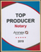 Top Producer Notary Public - San Diego 2019 - Postal Annex