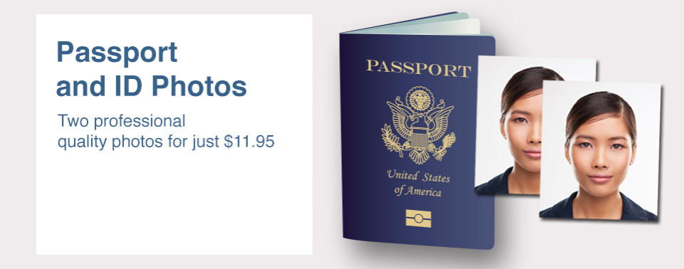 Passport and ID Photos Two professional quality photos for just $11.95
